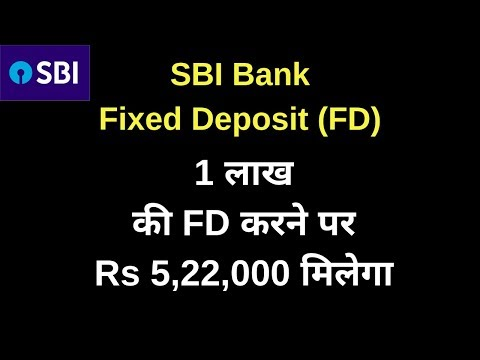 SBI Fixed Deposit Scheme | Fixed Deposit Interest Rates 2019 | FD | Fixed Deposit | FD Calculator