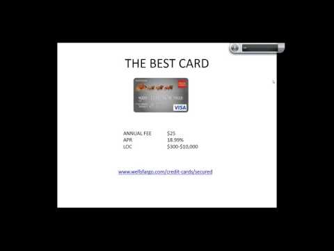 The Best Bad Credit Cards
