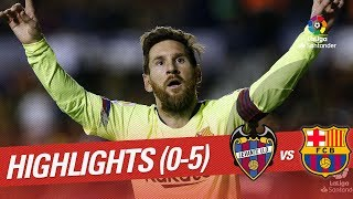 Highlights Levante UD Vs FC Barcelona (0-5)