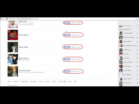 How To Auto Confirm 1 time get all Friend Request in Facebook account khmer speak in Cambodia 2016