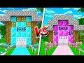 BOY vs GIRL MINECRAFT HOUSE BATTLE! (MCPE)