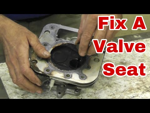 How To Properly Fix A Valve Seat on a Small Engine - With Taryl