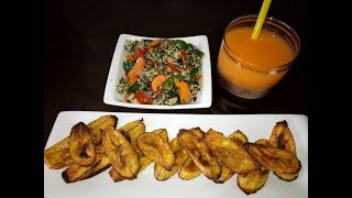 Grilled Plantain and Egg Sauce | HEALTHY NIGERIAN BREAKFAST