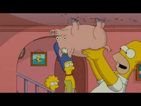 The Simpsons Movie Spider Pig Japanese Dub シンプソンズ Movie Youtube