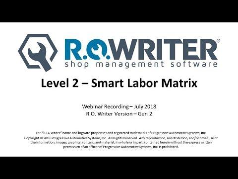 Level 2 - Smart Labor Pricing (Smart Labor Matrix)