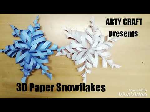3d snowflake craft 3d paper snowflakes diy crafts 1010