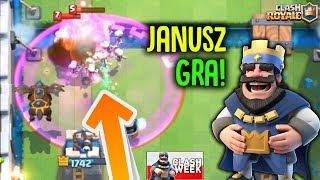 JANUSZ GRA NA CLAN WARS! NIESAMOWITY POJEDYNEK! Clash Royale Polska