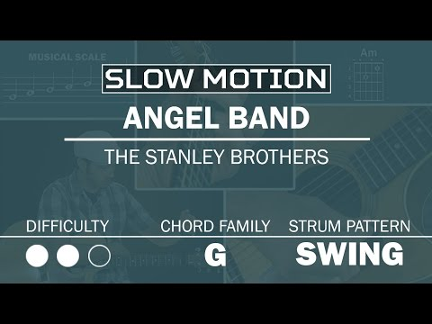 Angel Band (The Stanley Brothers) | SLOW MOTION | Beginner Guitar Lesson | Play Along Demo