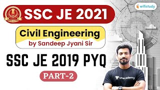 10:00 PM - SSC JE 2021 | Civil Engg by Sandeep Jyani | SSC JE 2019 PYQs (Part 2)