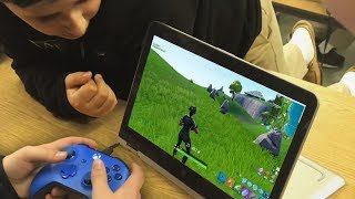 I Went to School and Challenged the best Fortnite Player...