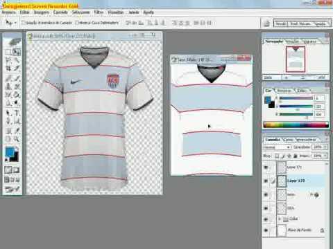 654f593e7ee9f Como fazer uma camisa com o Adobe Photoshop - YouTube