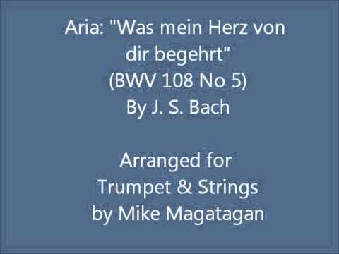"""Aria: """"Was mein Herz von dir begehrt"""" (BWV 108 No 5) for Trumpet & Strings"""