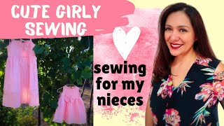 """Sewing cute dresses """"fix"""".  Nieces edition!"""