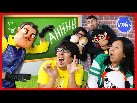 HELLO NEIGHBOR IS BACK IN REAL LIFE! Scary Neighbor Toy Hunt !