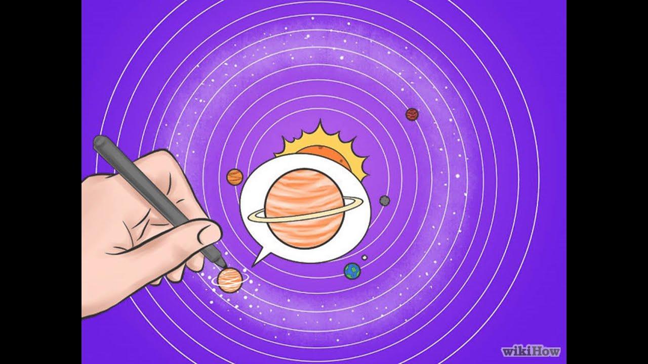 Dibujos Para Colorear Del Sistema Solar: Cómo Dibujar El Sistema Solar