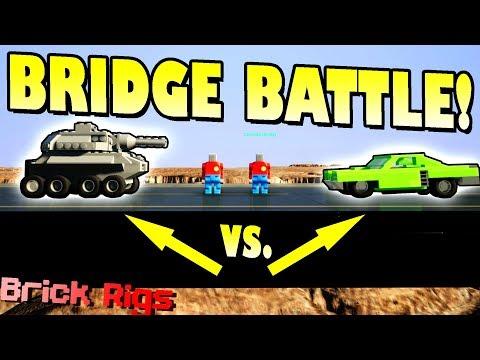 CANNONS VS CARS BRIDGE BATTLE CHALLENGE! - Brick Rigs Multiplayer Gameplay Ep13