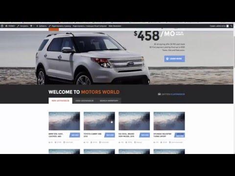 Моторы - Тема Автосалона На WordPress