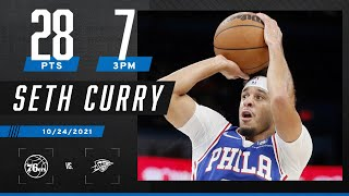 Seth Curry drops 28 PTS on the Thunder 🍿