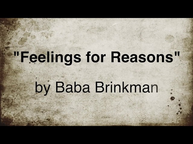 Feelings for Reasons – Lyric Video