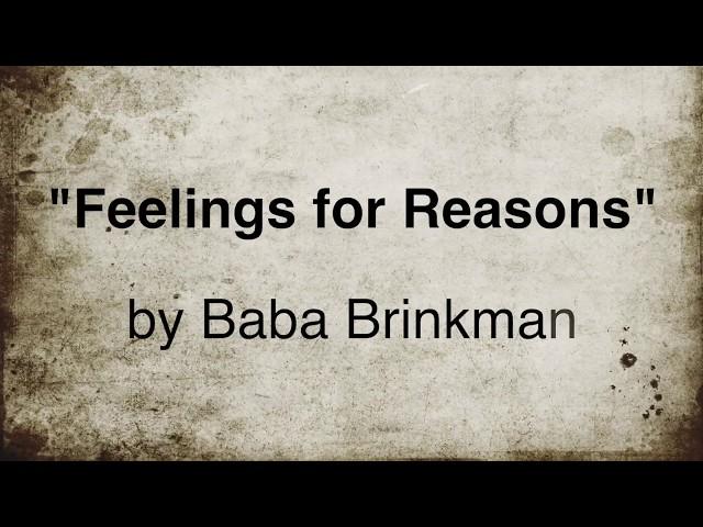 Feelings for Reasons – Lyric Video