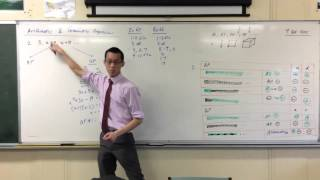 Making a Sequence Arithmetic or Geometric