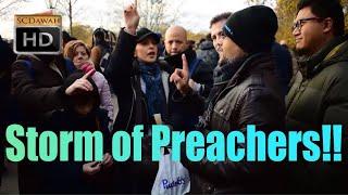 P1 - Storm of Preachers! Hashim Vs Multiple Lady Preachers | Old Is Gold | Speakers Corner