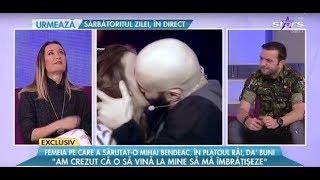 Femeia pe care a sarutat-o Mihai Bendeac, in platoul Rai da buni Am crezut ca o sa ma imbr ...