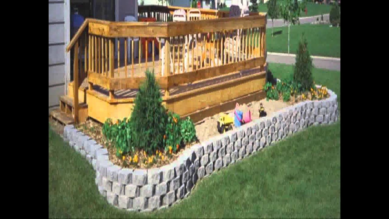 Small Home Garden Retaining Wall Ideas Youtube