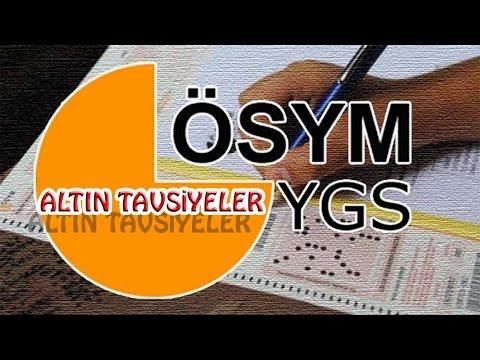 YGS'YE GİRECEKLERE ALTIN TAVSİYELER !