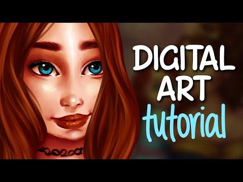 DIGITAL ART TUTORIAL | My digital drawing process | Jenna Drawing