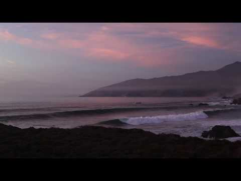 Winter Swell, Sunset in Big Sur California