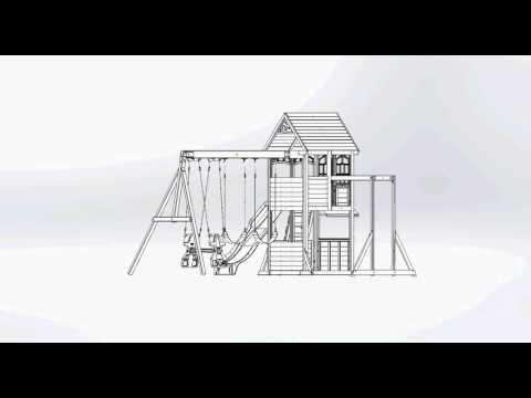 Big Backyard Premium Halliwell Wooden Play Set / Swing Set   Toys R Us Canada