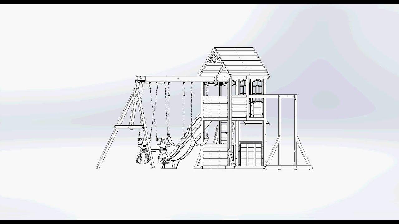 big backyard premium halliwell wooden play set swing set