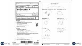 GCSE Maths Edexcel Official Mock 1H Higher Non-Calculator (Walking Talking Exam Practice)