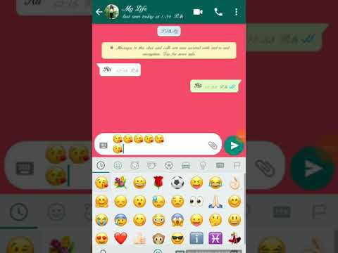 I Love You With Emoji WhatsApp Chat Video