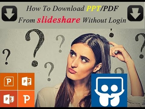 How To Download PPT From slideshare Without Login | How To Download PDF  From slideshare