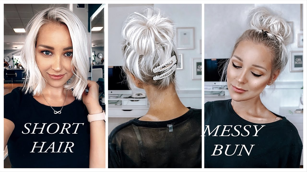 How To Huge Messy Bun With Super Short Thin Fine Hair Thinhairandidontcare Youtube
