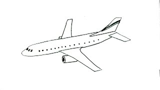 How to draw an aeroplane- in easy steps for children. beginners -plane