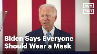 Joe Biden Calls On Everyone to Wear a Mask to Fight COVID-19 | NowThis