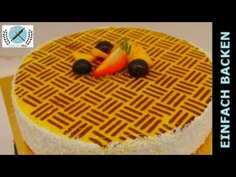moderne mango kokos torte rezept i einfach backen marcel paa youtube. Black Bedroom Furniture Sets. Home Design Ideas