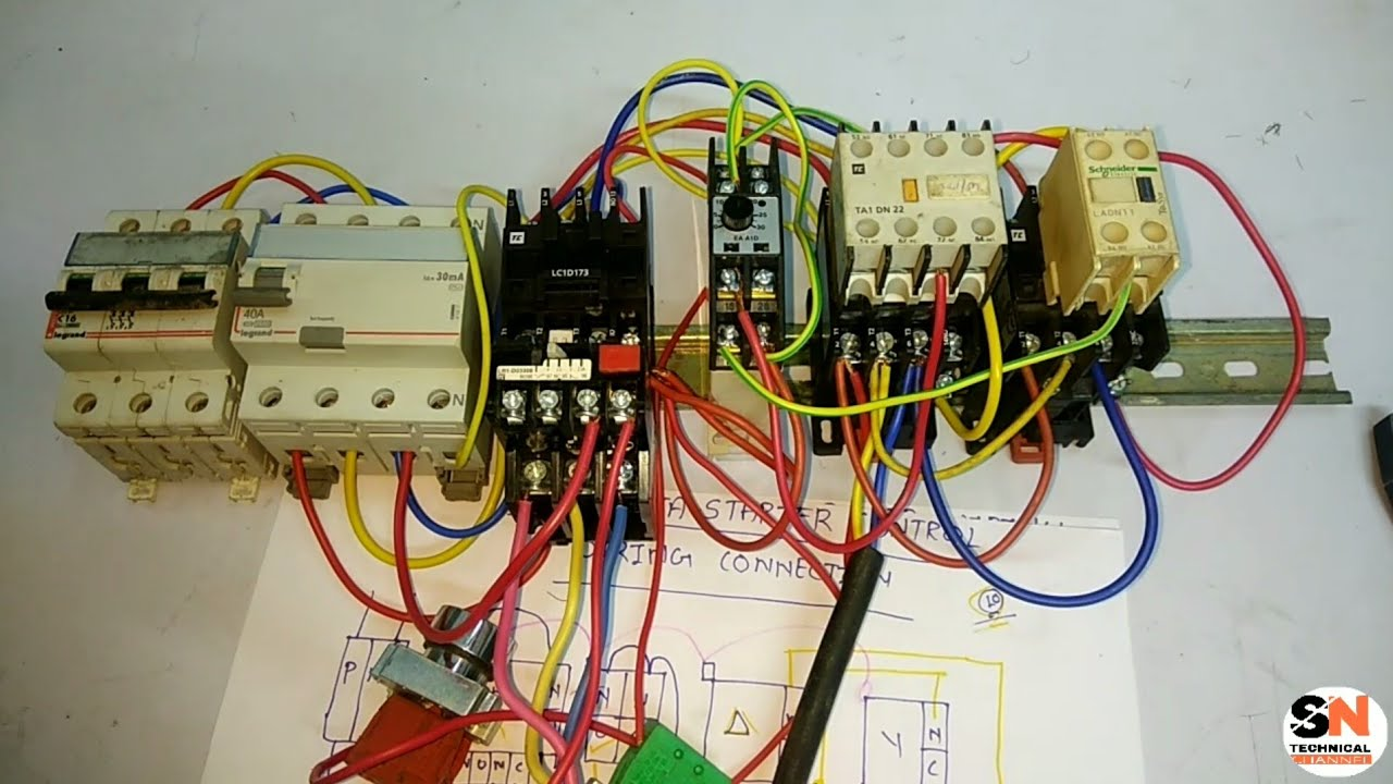 Star Delta Starter Power Wiring Control Practically Youtube Diagram Of