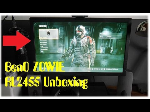 BenQ ZOWIE RL2455  Konsolen e Sports Monitor Unboxing German / Deutsch