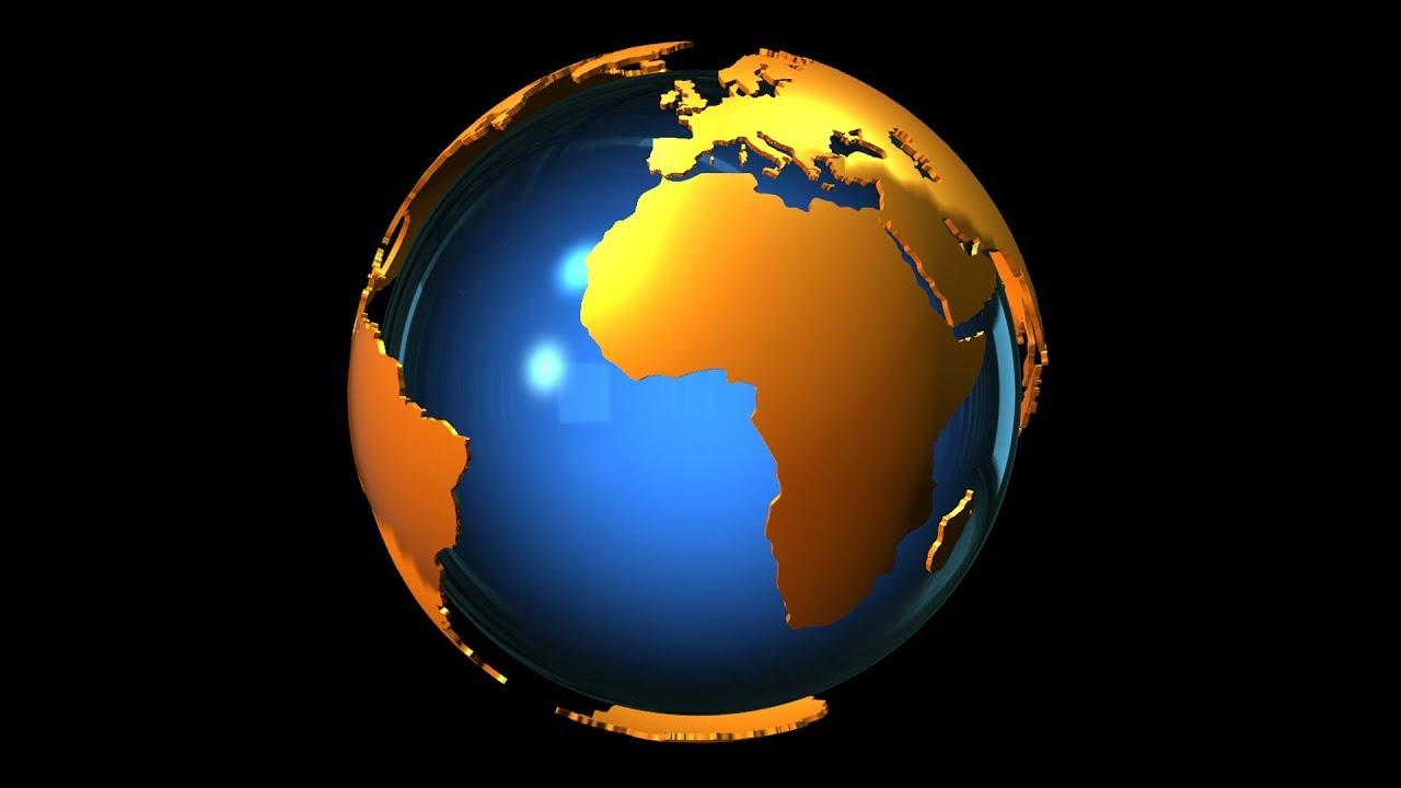 World Globe 3d Animation Alpha Loop Youtube