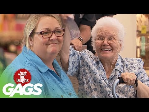 Youtube filmek - Grandma Gets Knocked Out - Just For Laughs Gags
