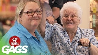 Grandma Gets Knocked Out - Just For Laughs Gags