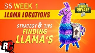 Fortnite   How to Find Llama Locations WEEK 1 Challenge (Best Spots for Supply Llamas Season 5)