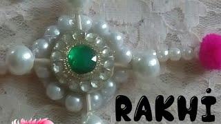 D.i.y Handmade tooth pick and bead rakhi making 2018