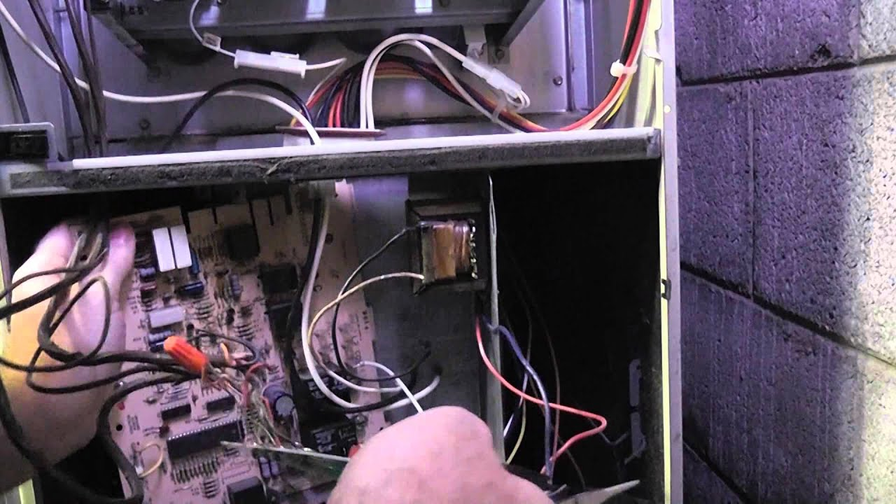 Electricalcircuitboardhvac Hvac Control Board In Furnace Main Burners Not Lighting Youtube