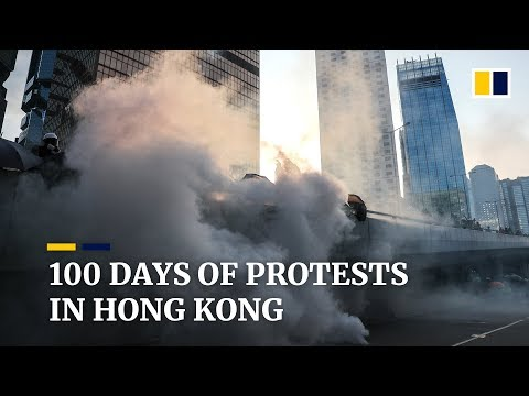 100 days of protests in Hong Kong