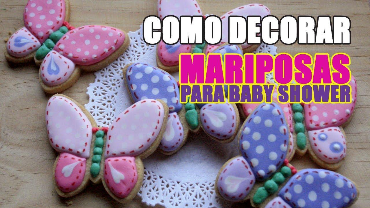 Cómo Decorar Galletas De Mariposas Para Baby Shower Cosa De Galletas